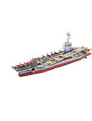 cheap -3D Puzzle Model Building Kit Warship Aircraft Carrier Ship DIY High Quality Paper Classic Kid's Unisex Boys' Girls' Toy Gift
