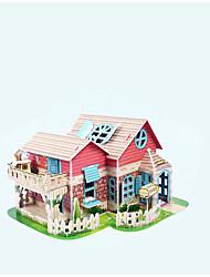 abordables -Puzzles 3D Kit de Maquette Maison Éclairage Papier Enfant Fille Jouet Cadeau