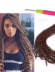 cheap -Braiding Hair Curly / Bouncy Curl / Crochet Dreadlocks / Faux Locs / Hair Accessory / Human Hair Extensions 100% kanekalon hair / Kanekalon 24 roots / pack Hair Braids Dreadlock Extensions / Dreads