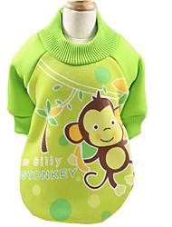 cheap -Dog Coat Shirt / T-Shirt Sweatshirt Winter Dog Clothes Brown Light Blue Fuchsia Costume Cotton Animal Party Casual / Daily Sports XS S M L XL XXL