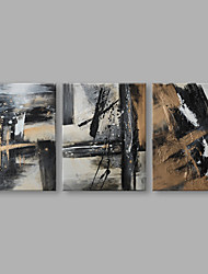 cheap -Oil Painting Hand Painted - Abstract Artistic Stretched Canvas / Three Panels