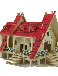 cheap -3D Puzzle Jigsaw Puzzle Model Building Kit Famous buildings Wooden Natural Wood Unisex Toy Gift