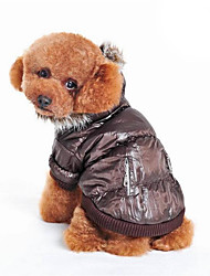 cheap -Dog Coat Dog Clothes Solid Colored Beige Gray Brown Down Cotton Costume For Spring &  Fall Winter Men's Women's Casual / Daily