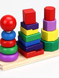 Недорогие -Конструкторы Игры с блоками Игрушка Сортировщика Формы Башня совместимый Legoing Cool Девочки Игрушки Подарок / Дерево