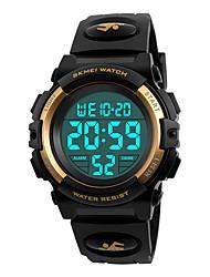 cheap -Men's Sport Watch Wrist Watch Digital Digital Fashion Water Resistant / Waterproof Alarm Calendar / date / day / Quilted PU Leather / Japanese