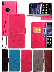 cheap -Case For Huawei Honor 7 / Huawei P9 / Huawei P9 Lite P10 Plus / P10 Lite / P10 Wallet / Card Holder / with Stand Full Body Cases Solid Colored Hard PU Leather / Huawei P9 Plus / Mate 9 Pro