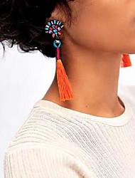 cheap -Women's Drop Earrings Tassel Ladies Vintage Bohemian Fashion Euramerican Boho Earrings Jewelry Red / Green / Light Blue For Party Casual