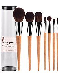 cheap -Professional Makeup Brushes Makeup Brush Set 7pcs Travel Blending Premium flawless Buffing Stippling Concealer Synthetic Hair / Artificial Fibre Brush Bamboo for Cream Liquid Powders