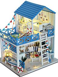 abordables -Kit de Maquette A Faire Soi-Même Bâtiment Célèbre Meuble Maison Plastique En bois Classique Unisexe Jouet Cadeau