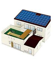 abordables -Jouet à Energie Solaire Puzzles 3D Maquette en Papier Bâtiment Célèbre Maison Solaire A Faire Soi-Même Classique Unisexe Jouet Cadeau