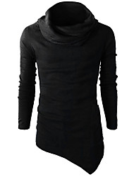 cheap -Stay Cation Men's Active / Basic Long Sleeve Slim Sweatshirt - Solid Colored Turtleneck Black L / Winter