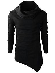 abordables -Homme Actif / Basique Mince Pantalon - Couleur Pleine Noir / Col Roulé / Manches Longues / Hiver
