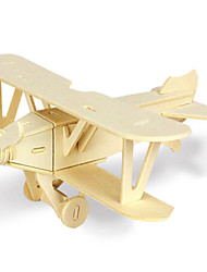 cheap -3D Puzzle Jigsaw Puzzle Metal Puzzle Plane / Aircraft DIY Wooden Natural Wood Classic Kid's Adults' Unisex Toy Gift