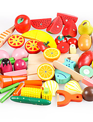 cheap -Toy Food / Play Food Pretend Play Vegetables Fruit Fruits & Vegetables Magnetic Simulation Wooden Wood Toy Gift