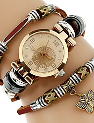 cheap -Women's Bracelet Watch Wrist Watch Analog Quartz Wrap Ladies Cool Imitation Diamond / One Year / Genuine Leather