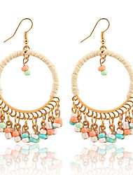 cheap -Women's Drop Earrings Beads Ladies Dangling Tassel Vintage Bohemian Fashion Resin Earrings Jewelry Red / Green / Rainbow For Christmas Christmas Gifts Wedding Party Special Occasion Anniversary