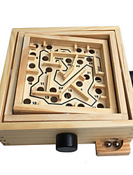 cheap -Wooden Labyrinth Maze 1 pcs Wooden Kid's Toy Gift
