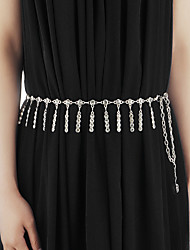 cheap -Belly Dance Belt Women's Performance Metal Crystals / Rhinestones Waist Accessory