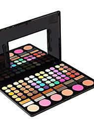 cheap -78 Colors Eyeshadow Palette Powders Matte Shimmer Glitter Shine smoky Daily Makeup Cosmetic Gift