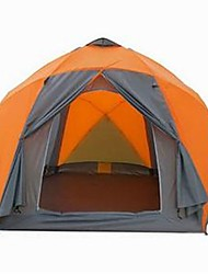 cheap -8 person Tent Outdoor Waterproof Rain Waterproof Quick Dry Double Layered Camping Tent >3000 mm for Camping / Hiking Glass fiber Terylene