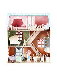 abordables -Puzzles 3D Puzzle Maison de Poupées Piano Bâtiment Célèbre En bois Enfant Fille Jouet Cadeau