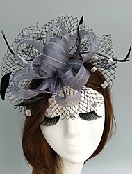 cheap -Flax / Net Fascinators / Hats / Birdcage Veils with 1 Wedding / Special Occasion Headpiece