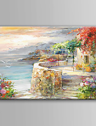 cheap -Oil Painting Hand Painted Landscape Modern Contemporary Rolled Canvas Rolled Without Frame