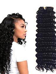 cheap -Crochet Hair Braids Deep Wave Box Braids Black Ombre Synthetic Hair 14 inch Braiding Hair 3pcs / pack