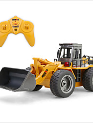 cheap -RC Car HUINA 1520 6 Channel 2.4G Bulldozer 1:18 Brush Electric Rechargeable / Remote Control / RC / Electric