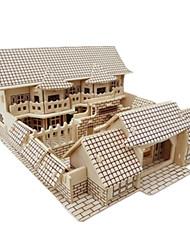 Недорогие -3D пазлы Пазлы Наборы для моделирования Знаменитое здание Китайская архитектура Своими руками моделирование деревянный Классика В китайском стиле Детские Взрослые Универсальные Мальчики Девочки