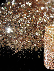 cheap -10g-pure-champagne-glitter-nail-art-tool-diy-glitter-mix-size-acrylic-powder-pentagon-sequins-sheet-nail-supplies-decoration