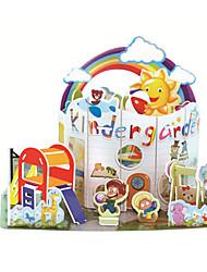 cheap -3D Puzzle Jigsaw Puzzle Pegged Puzzle Castle Famous buildings DIY Card Paper Classic Cartoon Kid's Unisex Toy Gift