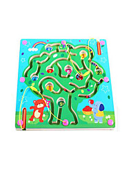 cheap -Chess Game Maze Magnetic Maze Magnetic Wooden Iron Kid's Toy Gift 1 pcs