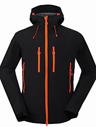cheap -Men's Hiking Softshell Jacket Hiking Jacket Winter Outdoor Thermal / Warm Waterproof Windproof Breathable Jacket Windbreaker Top Softshell Running Camping / Hiking Hunting Black / Blue / Gray Camping
