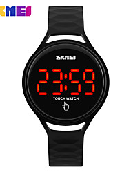 cheap -SKMEI Women's Sport Watch Digital Watch Digital Quilted PU Leather Black / Blue / Red Hot Sale Digital Charm - Red Green Blue Two Years Battery Life / Maxell SR626SW+CR2025