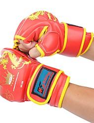 cheap -Boxing Training Gloves For Boxing Fingerless Gloves Safety Unisex - Black Red