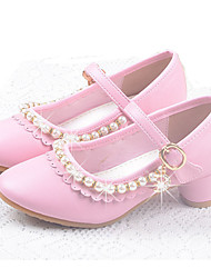 cheap -Girls' Comfort / Flower Girl Shoes Leatherette Flats Buckle White / Pink Summer / Fall / TPR (Thermoplastic Rubber)