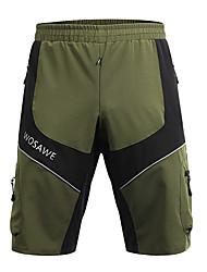 cheap -WOSAWE Men's Cycling MTB Shorts Bike Baggy Shorts MTB Shorts Pants Reflective Strips Sports Polyester Army Green Mountain Bike MTB Road Bike Cycling Clothing Apparel Advanced Relaxed Fit Bike Wear