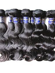 cheap -Peruvian Hair Body Wave Human Hair Natural Color Hair Weaves / Hair Bulk Human Hair Weaves Human Hair Extensions