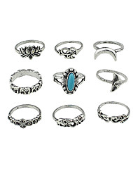 cheap -Band Ring Gold Silver Alloy Unusual Unique Design Basic 7 / Women's