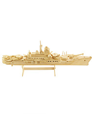 cheap -3D Puzzle Jigsaw Puzzle Model Building Kit Warship Aircraft Carrier Wooden Wood Aircraft Carrier Kid's Unisex Boys' Toy Gift
