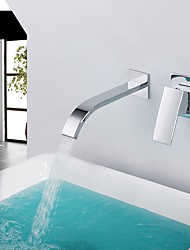 cheap -Bathroom Sink Faucet - Waterfall Chrome Widespread Single Handle Two Holes
