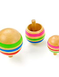 cheap -Spinning Top Stress and Anxiety Relief Office Desk Toys Wooden 3 pcs
