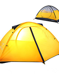cheap -1 person Backpacking Tent Outdoor Rain Waterproof Dust Proof Foldable Double Layered Camping Tent 2000-3000 mm for Camping / Hiking Outdoor Nylon Polyester Taffeta