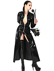 cheap -Women's Uniforms Sexy Uniforms Sex Zentai Suits Cosplay Costume Catsuit Solid Colored Coat