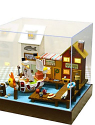 cheap -Model Building Kit DIY Furniture House Plastics Wooden Classic Unisex Toy Gift