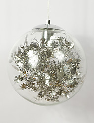 cheap -1-Light 25 cm Mini Style Pendant Light Metal Glass Electroplated Modern Contemporary 110-120V / 220-240V
