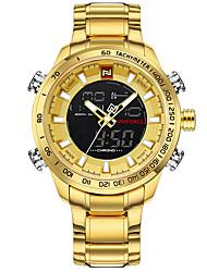 cheap -Men's Sport Watch Military Watch Wrist Watch Japanese Quartz Stainless Steel Black / Silver / Gold 30 m Water Resistant / Waterproof Calendar / date / day Chronograph Analog - Digital Charm Luxury