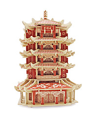 cheap -3D Puzzle Jigsaw Puzzle Model Building Kit Famous buildings Chinese Architecture Wooden Chinese Style Unisex Toy Gift