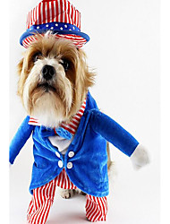 cheap -Dog Costume Dog Clothes Stripes Green Blue Polyester Costume For Spring &  Fall Winter Unisex Fun & Whimsical Party Cosplay